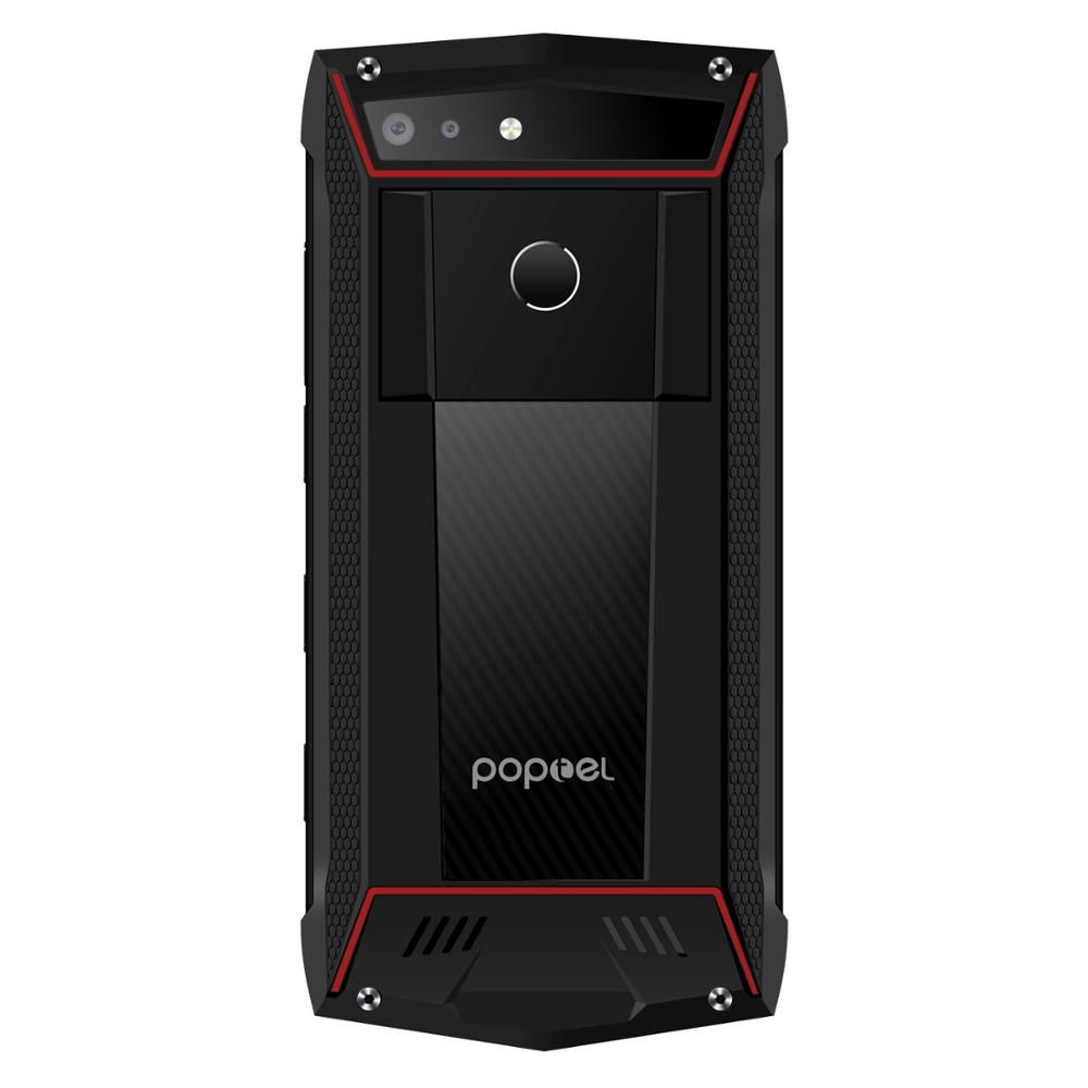 2020 New version Poptel P60 rugged smartphone with PTT 6+128G RAM wireless charging FaceID 5000mah battery NFC 16MP dual camera