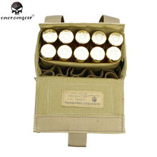 Emerson 1000D Molle Bullet Ammo Shell Houder Doos Paintball Airsoft Tactical MOLLE Heuptas voor Bullet Jacht Mag Ammo Pouch(China)