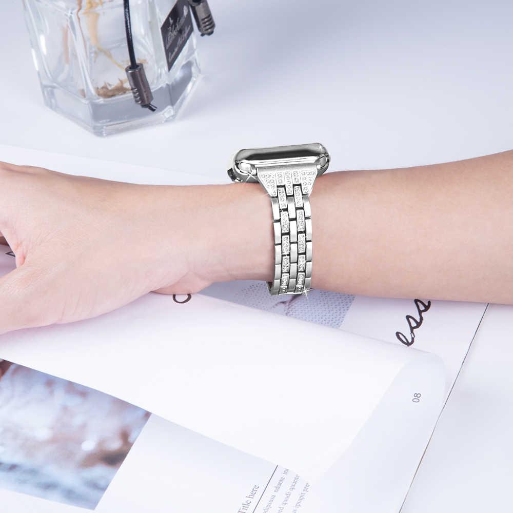 Ремешок из нержавеющей стали для Apple Watch Band 42 мм 38 мм iwatch 4 3 band 44 мм 40 мм металлический ремешок для часов браслет аксессуары для часов