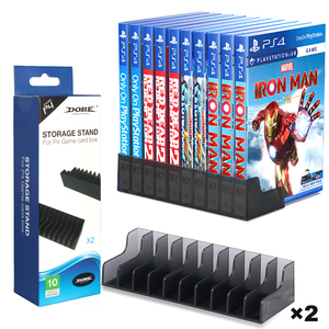 2pcs PS4/Slim/Pro 10 Game Discs Storage Stand Games Holder Bracket for Sony Playstation 4 Play Station PS 4 Accessories