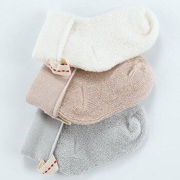 ¡Nuevo! Lote de 3 unidades de medias de algodón puro para bebés de 1 a 3T, calcetines cálidos gruesos de felpa, calcetines para bebés, calcetines de toalla holgados para recién nacidos, venta al por mayor