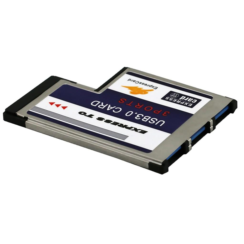 3Port Flush Mount Express Card 54mm SuperSpeed USB3.0 Adapter Expansion Card