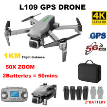 L109 RC Drone 4K profissional dron with camera HD 5G WIFI FPV drones GPS 1km RC control Distance Helicopter droni 25mins flight