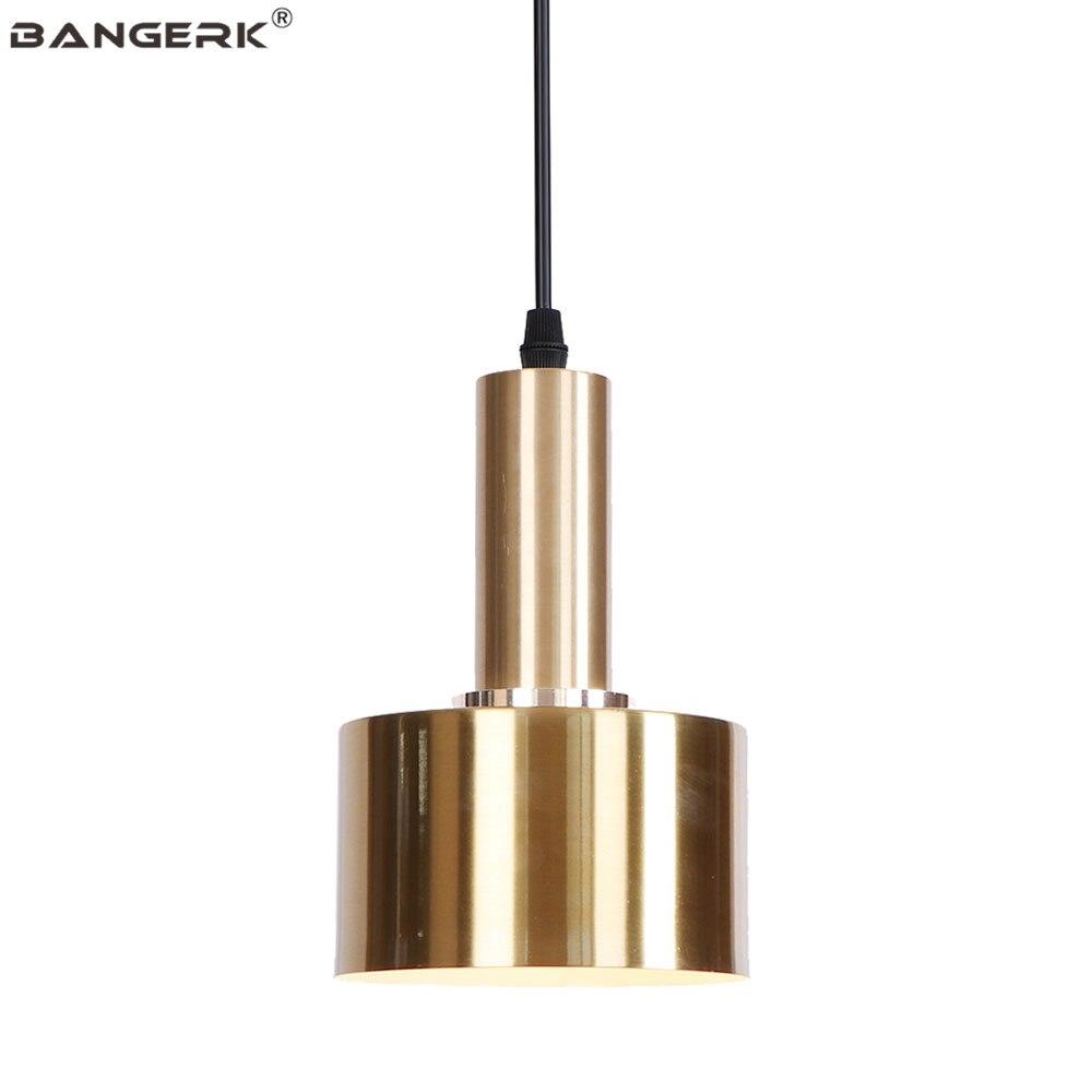 Nordic Design LED Pendant Lamp Loft Decor Gold Iron Adjust Hanging Light For Home Dining Room Bar Droplight Lighting Luminaire