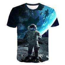 2019 3D T-shirt Boys Space Astronaut Planet Balloon Print Tees Shirt Moon Great Hero Short Sleeve Casual Fashion Kid Tops