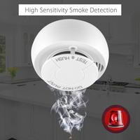 Wireless Fire Sensor Protection Smoke Detector Highly Dust Proof External Light Sensitive Alarm Systems for Indoor Shop Hotel