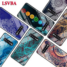 Mandala Chakra Yoga for Samsung Galaxy Note 10 9 8 Pro S10e S10 5G S9 S8 S7 Plus Super Bright Glossy Phone Case Cover