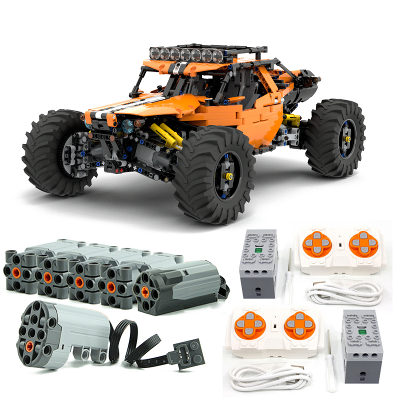 NEW MOC-19517 4WD RC Buggy Technic Series Building Blocks Bricks Toys For Kit DIY Educational Children Kids Birthday Xmas Gifts