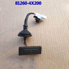 81620-4X200 для Kia Rio k2 2011- аутентичная задняя Кнопка открытая крышка багажника внешняя ручка кнопка переключения 812604X200