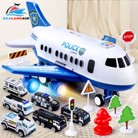 10 Style Children's Toys Airplane Model Music Track Inertia Airliner Large Passenger Plane Diecasts & Toy Vehicles Baby Aircraft