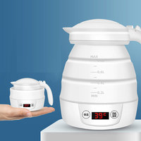 New Hot Electric Kettle Collapsible Portable Silicone Folding Fast Water Boiling for Travel