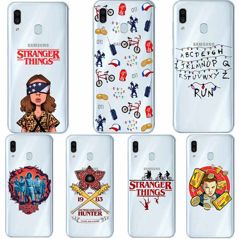 Stranger Things Season Silicone Phone Case For Samsung Galaxy A51 A71 A30 A10 A50 2019 A7 A6 A8 Plus A9 2018 A70 A80 Coque Cover