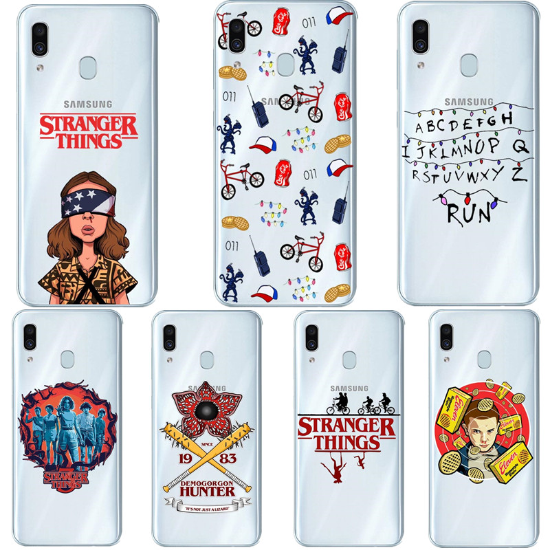 stranger things season 3 Silicone Phone Case For Samsung Galaxy A30 A10 A50 2019 A7 2018 A6 A8 Plus A9 2018 A70 A80 TV Cover image