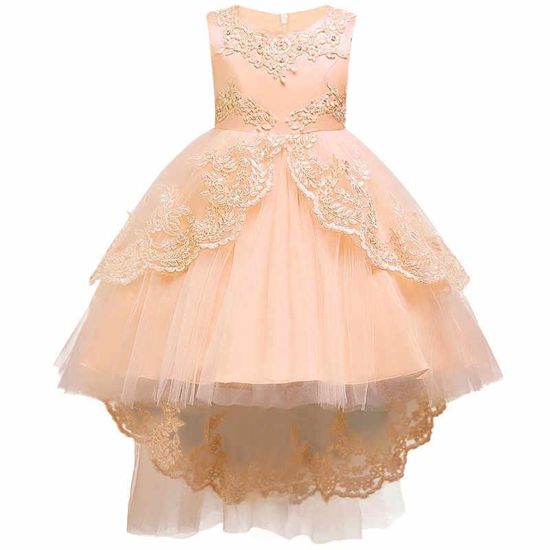 Летнее Детское торжественное платье для девочек, одежда с цветочным рисунком, праздничное платье принцессы на день рождения, одежда для девочек 14 лет