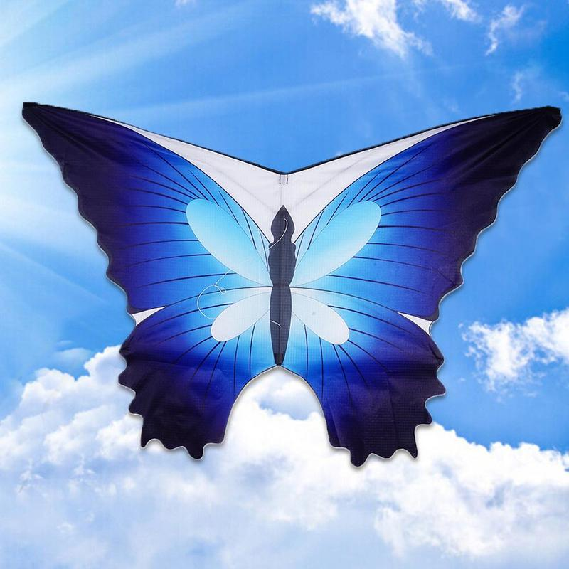 New Blue Butterfly Flying Kite With 30m Kite Line Children Kids Toy Game Outdoor Fun Sports Educational Gifts