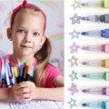 Двойная линия выделители ручка комплект творческий Волшебный контур ручки для рисования набор 12/24/36 Цвета маркер моющиеся живописи ручка 5 ...