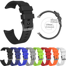 Replacement Sports Silicagel Soft Watch Band Strap For Samsung Gear Sport S (181MM)Sport Strap For Smart Watches Belt 19Nov05(China)