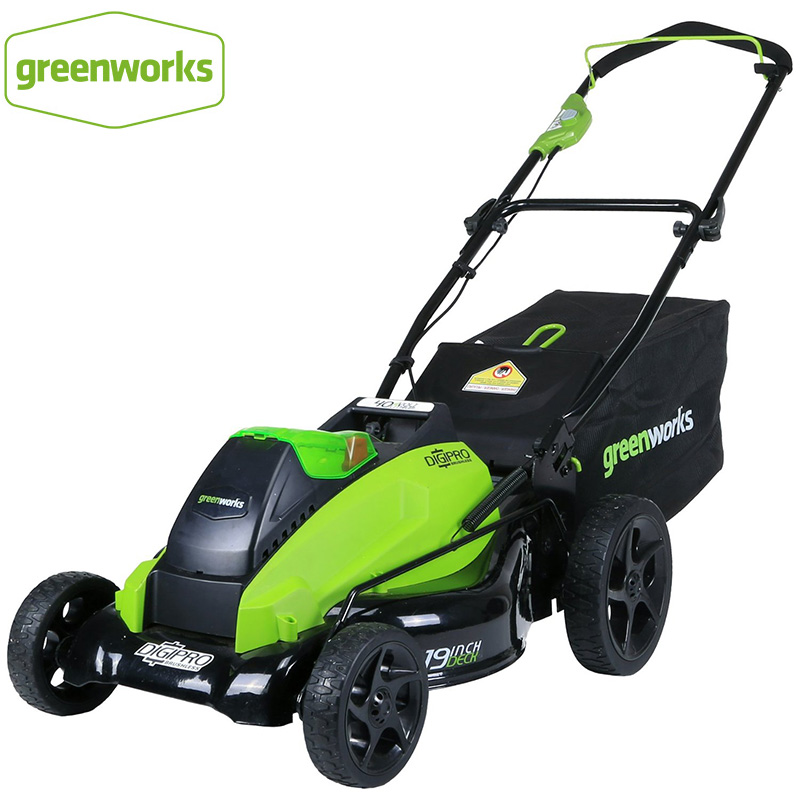 Greenworks 19-Inch 40V 800W Cordless Electric Grass Mower Rechargeable Home Grass Trimmer For Garden Park Lawn Prune