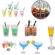 2pcs Mini Lemon Water Cup Doll house Accessories Cups Toy Small Decoration Gifts 1:12 Dollhouse Miniature Furniture Toys
