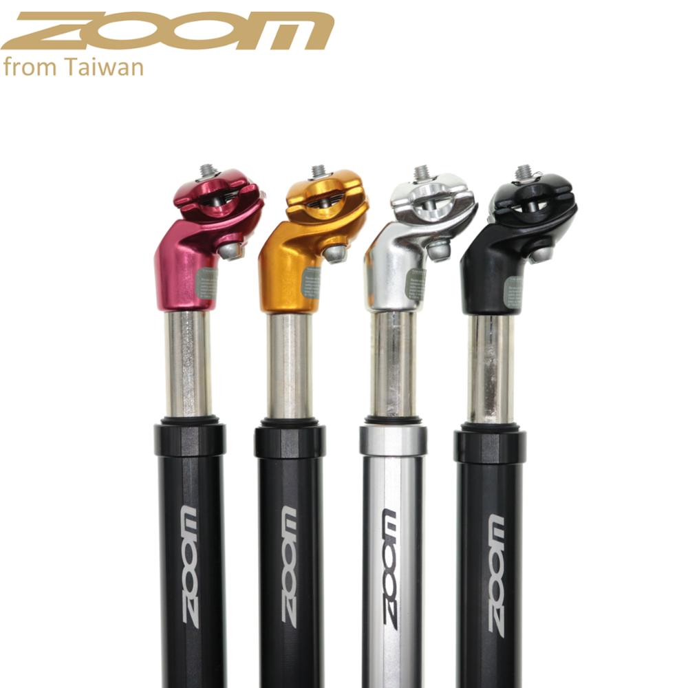 ZOOM Suspension Bicycle Seatpost 27.2/28.6/30.0/30.4/31.6/33.9*350MM Seat Post Aluminium Bike Shock Absorption Damping Seat Tube