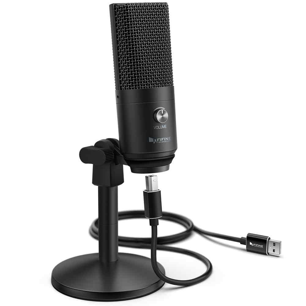 FIFINE USB מיקרופון עבור מחשב נייד ומחשבים עבור הקלטת הזרמת עווית קול תורות Podcasting עבור Youtube סקייפ K670