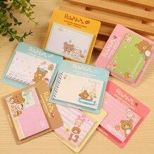 60 pcs/Lot Rilakkuma sticky notes Cute bear Post it Memo pad Adhesive paper stationery papelaria Office School supplies FM648