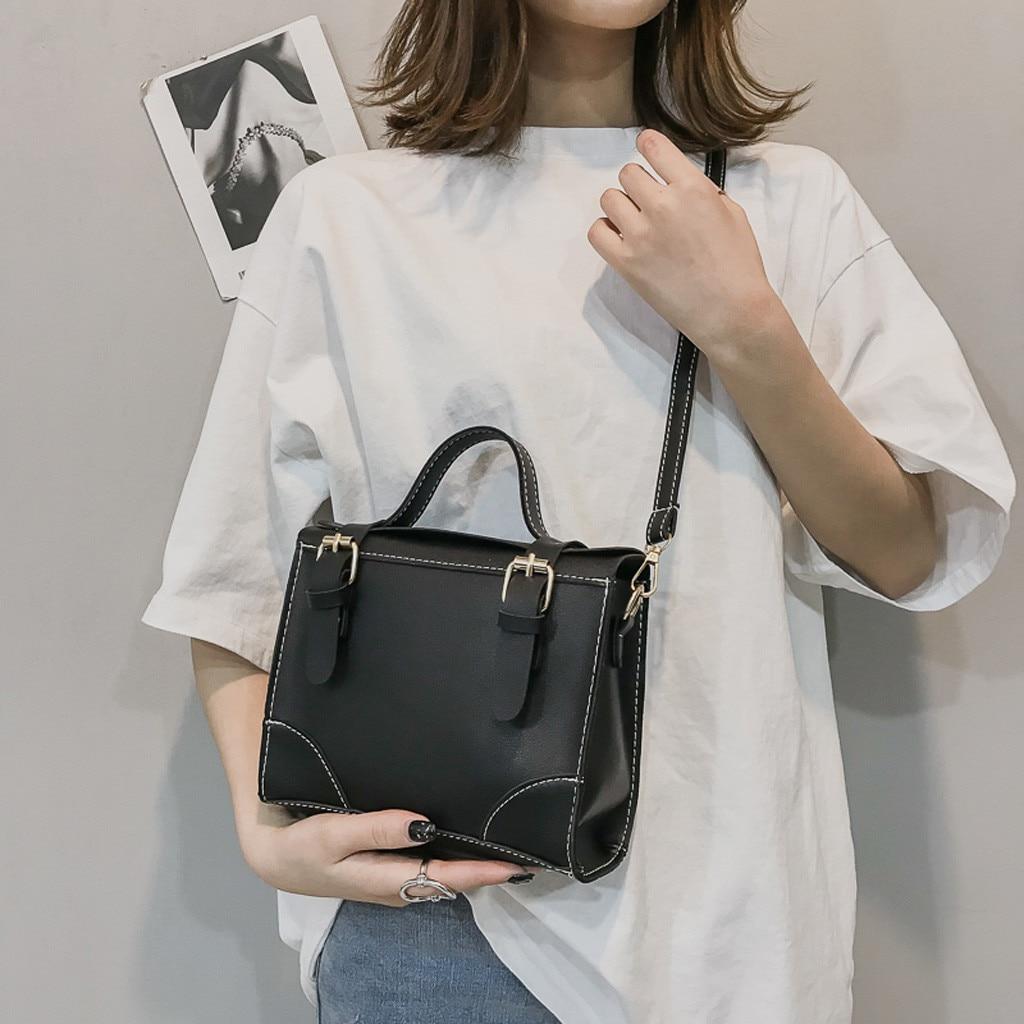 Handbags Fashion Bags For Women Fashion Ladies Leather Solid Color Personality Shoulder Handbag Messenger Crossbody Bag