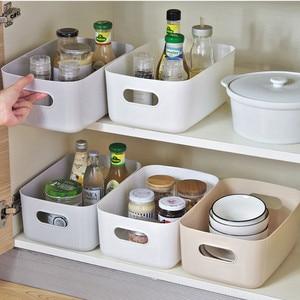 Sundry storage basket student desktop snack storage box plastic cosmetic storage box household kitchen sorting box makeup box