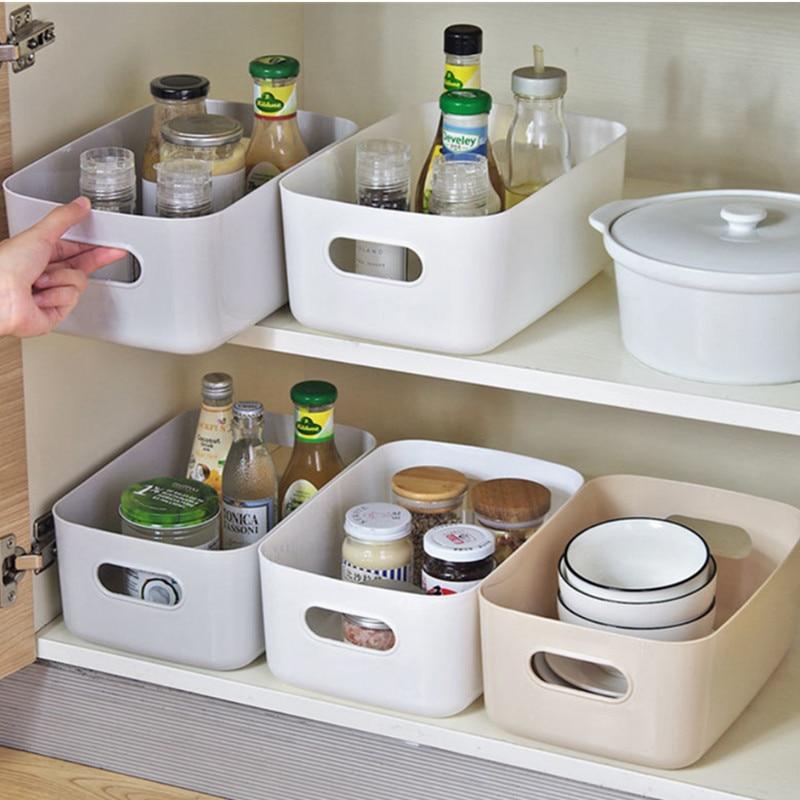 Panier de rangement divers bureau pour étudiants boîte de rangement cosmétique en plastique boîte de tri de cuisine domestique boîte de maquillage