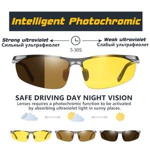 Image 2 - CoolPandas alüminyum fotokromik polarize güneş gözlüğü erkekler sürüş gözlükleri kadınlar günü gece sürücü gözlük Oculos De Sol Masculino