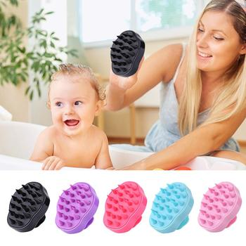 1PC Scalp Massage Brush Comb Silicone Head Body  Shampoo Hair Washing Comb Shower Brush Bath Spa Slimming Massage Brush head massage hair brush cute magical rabbit scalp massager electric shampoo comb vibration stress relief bath hair wash care