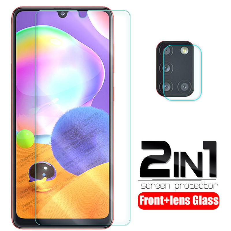 2-in-1 camera lens glass for samsung a31 a 31 screen protector for samsung galaxy a31 2020 sm-a315f/ds 6.4