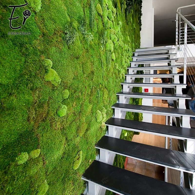 Image 3 - Erxiaobao 100*100 CM High Quality Polyester Artificial Moss Wall Simulation Fake Grass Lawn for Indoor Home Decoration-in Artificial Plants from Home & Garden