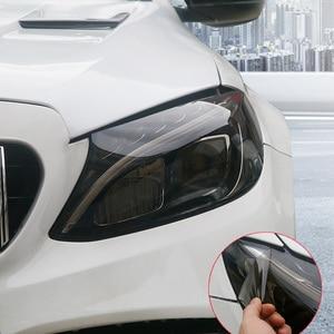 Car Stickers Headlight Taillight Tint Vinyl Film for Mercedes W204 W210 AMG Benz Bmw E36 E90 E60 Fiat 500 Volvo S80(China)
