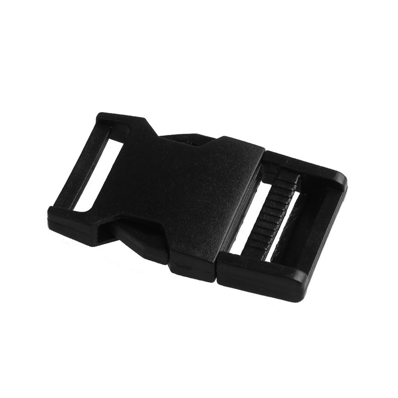 2 шт 25 мм Красочные пряжки ABS застежки для Паракорда браслет рюкзаки одежда сумки запчасти - Цвет: Black