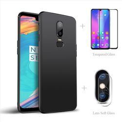 На Алиэкспресс купить чехол для смартфона matte back cover case + full cover tempered glass + lens protective glass for oneplus 7 pro 6 6t 5 5t one plus 7pro