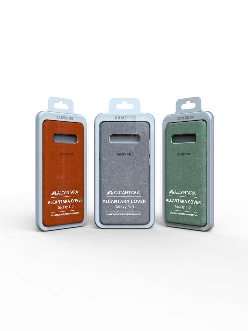 100% オリジナル本物のサムスン S10 ギャラクシー S10Plus S10 + S10E アルカンタラカバーレザープレミアムフル保護カバー 5 色