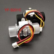 Medidor de flujo de agua, indicador de Sensor de flujo Hall, contador de caudalímetro G1/2 0,5 25l/min 1,2mpa F = 6 * Q, Sensor de flujo