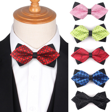 Мужская мода Боути классический рубашка и галстук-бабочка для женщин bowknot регулируемая указал галстуки галстуки плед галстуки свадебные