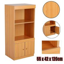 Wood Bookcase Storage Shelf Office Home Cabinet Display Rack Organizer Furniture