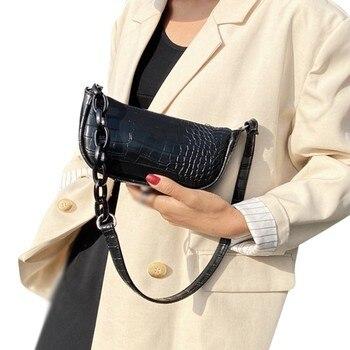 cluci women s backpacks real genuine leather fashion black pink beige grey purple alligator pattern casual women s daypacks bags Fashion Women Crossbody Handbags Alligator Pattern Women Shoulder Bags PU Leather Casual Bolsas