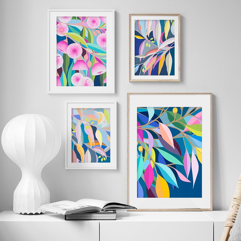 Flower Leaves Abstract Painting Wall Art Canvas Painting Nordic Posters And Prints Plants Wall Pictures For Living Room Decor|Painting & Calligraphy| - AliExpress