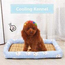 Canil do cão verão refrigerando breatrhable linho lavar à mão durável esteira gato casa acessórios para animais de estimação pequenos grandes cães perro canil