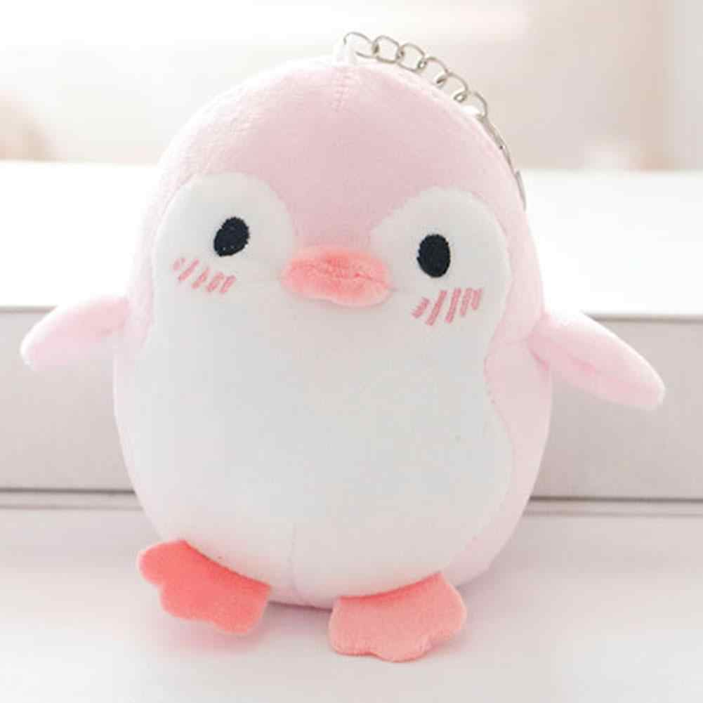 penguin winter stuffed plush doll ornament bag holder key chains new