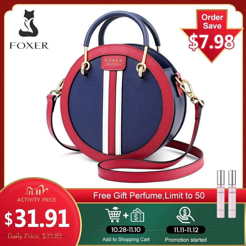 FOXER Crossbody-Bag Circular-Handbag Gift Round Small Female Girl Women's Lady for England-Style