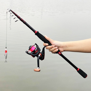 Image 2 - 1.8m 2.7m power squid bait casting fishing rod carbon retratable spinning rod ultralight travel stick telescopic