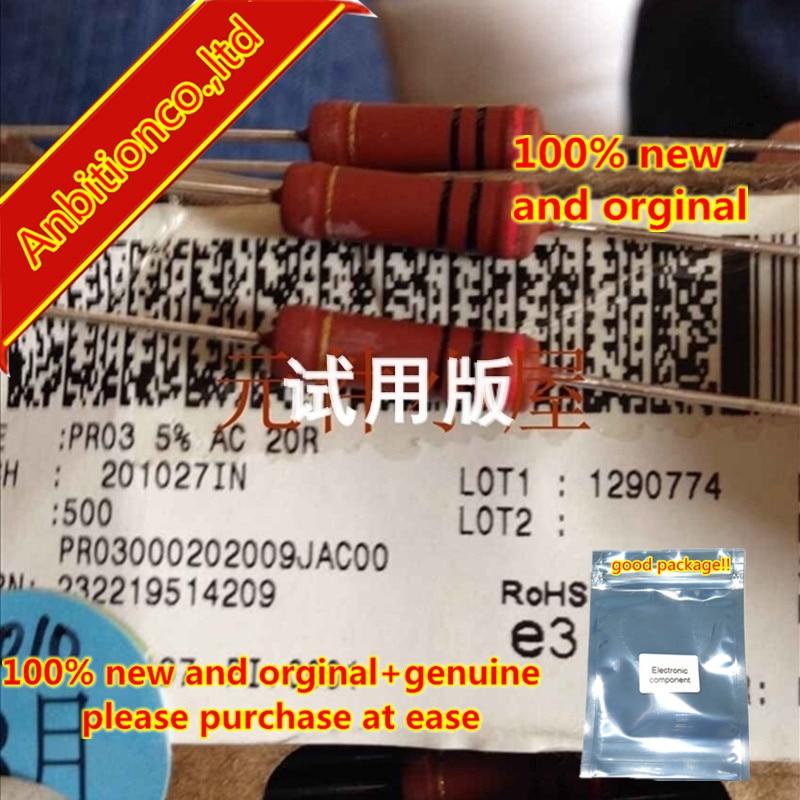 10pcs 100% New And Orginal PR03 3W 20R 20 Euro 5% Thick Copper Pin  In Stock