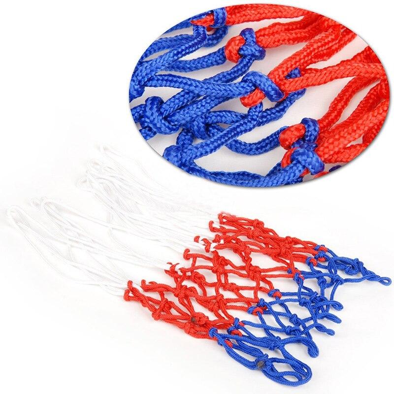 Прочная нейлоновая толстая нить три цвета универсальная баскетбольная сетка Замена-4
