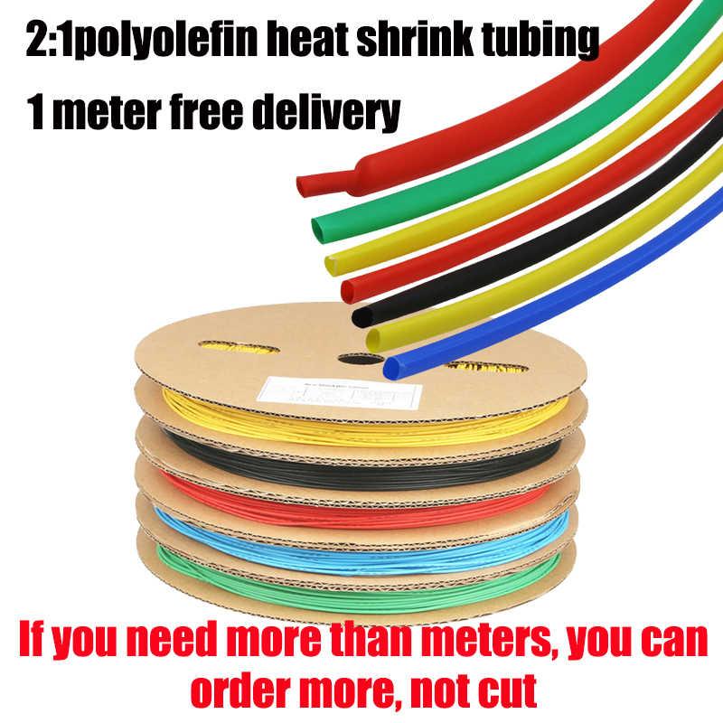 1 metre ısı borusu shrink 2:1 şeffaf isı shrink boru seti yapıştırıcı 1,2,3,5,8mm,10mmpvc beyaz büzüşebilen kablo kollu