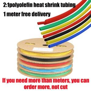 Jeu de tubes thermorétractable blancs 1 mètre   tube thermorétractable transparent 2:1 adhésif à colle 1,2,3,5,8mm,10mm manchon de câble rétractable en pvc blanc